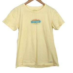 Life Is Good Shirt Beach Theme Logo M
